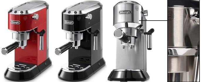 Delonghi Dedica EC 680 color variety and materials