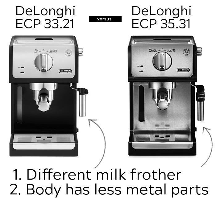 Delonghi ECP 33.21 vs 35.31