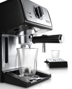 Double drip tray introducen on Delonghi ECP 3420 for the US market