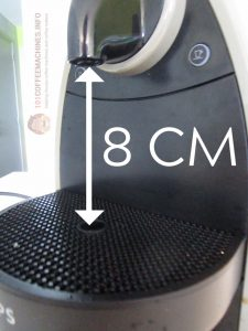 Maximum Cup Height is only 8 cm