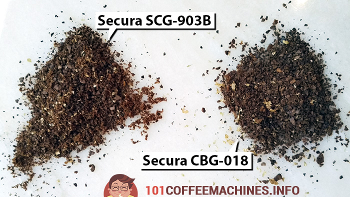 Secura SCG-903B vs Secura CBG-018: The coarsest grind possible