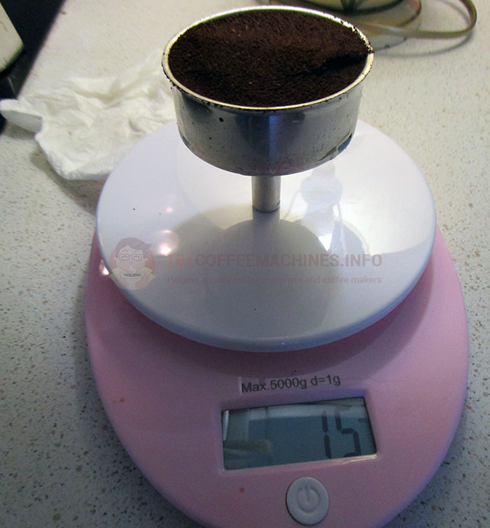 Bialetti Brikka Ground Coffee Filter Capacity