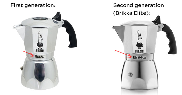 Bialetti Brikka Old and New model