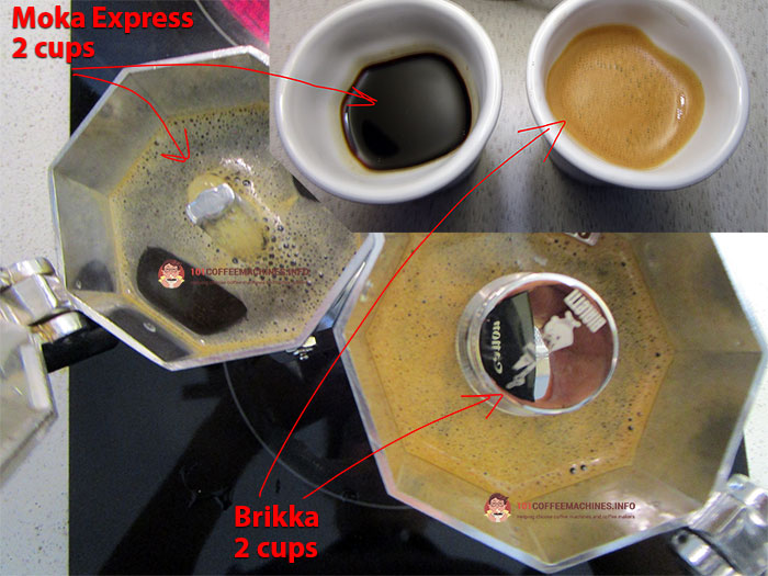 Bialetto Briikka vs Moka Express (crema test)