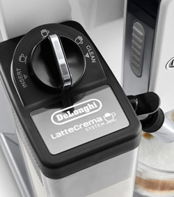 Delonghi's more or less foam regulator, which Saeco/Gaggia doesn't have