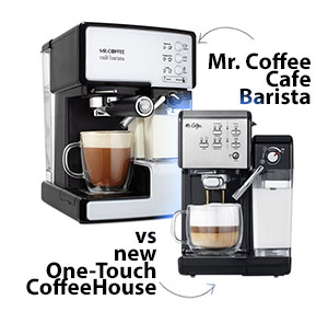 Mr. Coffee Cafe Barista BVMC-ECMP1102 vs Mr. Coffee One-Touch CoffeeHouse BVMC-EM6701SS